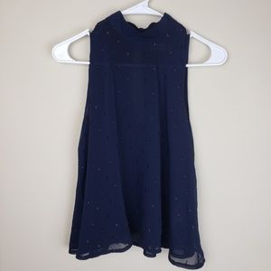 Abercrombie & Fitch | Sleeveless Navy Blouse